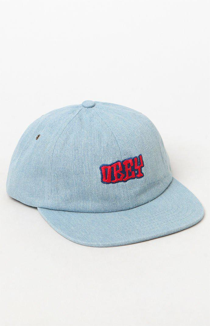 factory authentic 04579 6fca7 Obey Campbell Chambray Snapback Hat in Blue for Men - Lyst