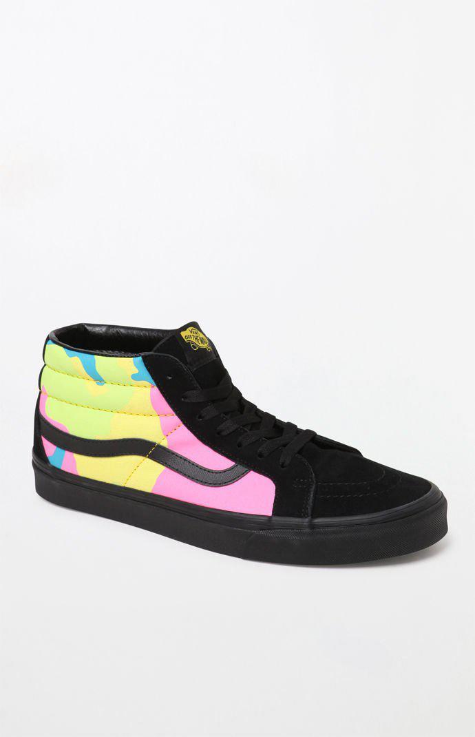 0de632fe79 Lyst - Vans Neon Camo Sk8-mid Shoes for Men - Save 31%