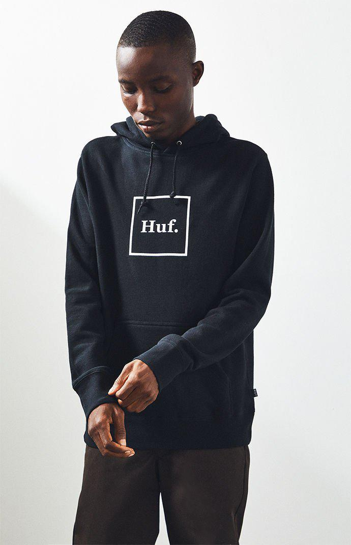 96ad36f5 Lyst - Huf Box Logo Pullover Hoodie in Black for Men
