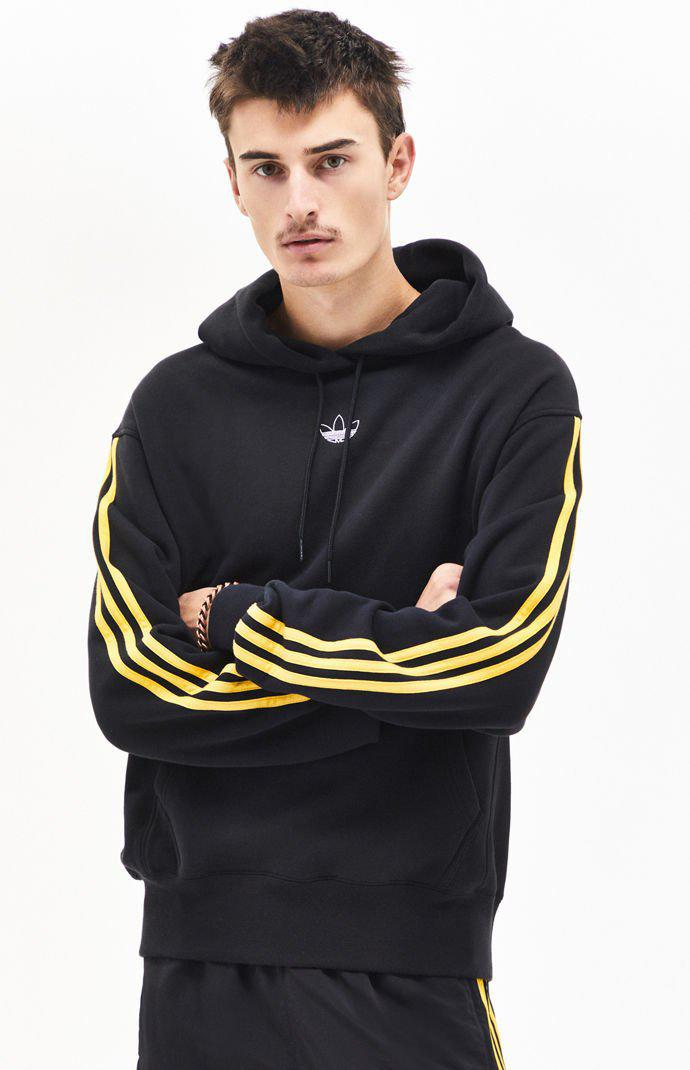 06694713 Adidas Black Off Court Pullover Hoodie for men