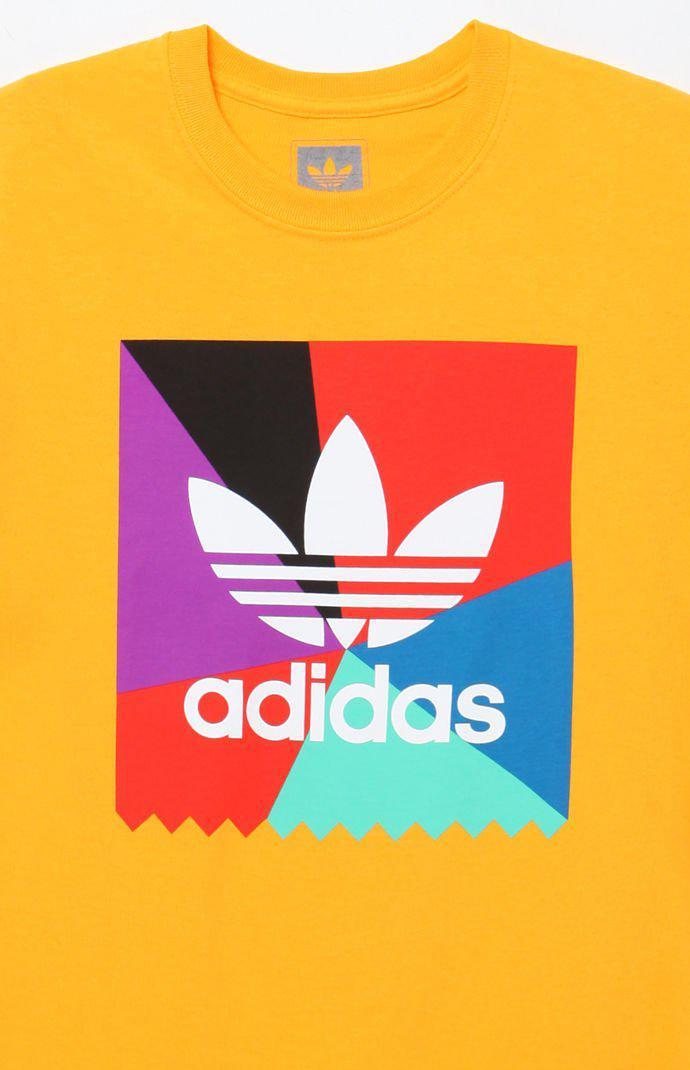 Adidas Metallic Blackbird Stamp Ray Gold T-shirt for men