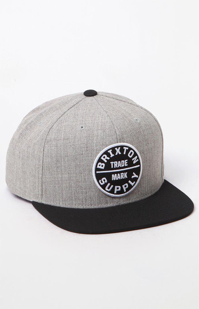 2fdc59ba304dc8 Lyst - Brixton Oath Iii Snapback Hat in Black for Men