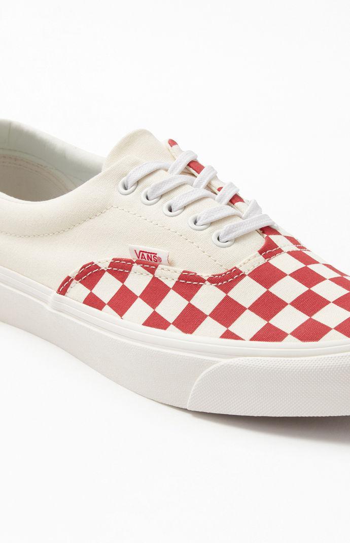 White \u0026 Red Podium Check Era Shoes