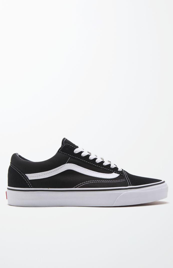 405470ce90 Vans - Canvas Old Skool Black   White Shoes for Men - Lyst. View fullscreen