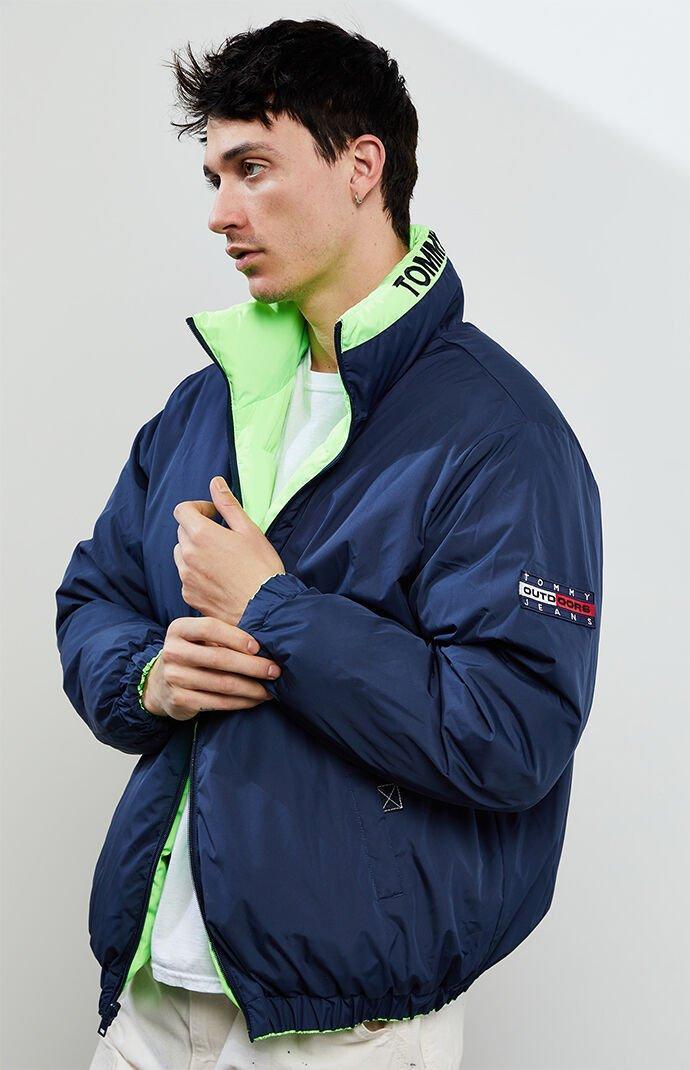 Tommy Hilfiger Mens Tommy Jeans Mens Reversible Puffer Jacket Jacket