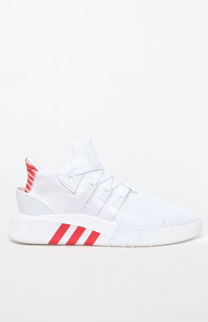 Eqt Basketball Adv White & Red Shoes