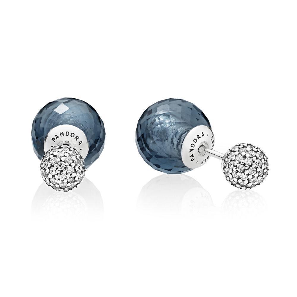 1489e07be ... czech pandora midnight blue shimmering drops stud earrings in blue lyst  40075 8cde9
