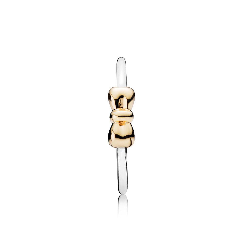 6c3391769 PANDORA Petite Bow Ring in Metallic - Lyst