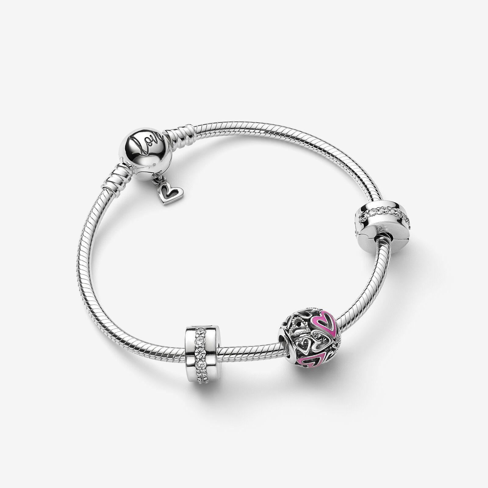 Pandora Free Heart Bracelet Gift Set In Silver Metallic Lyst