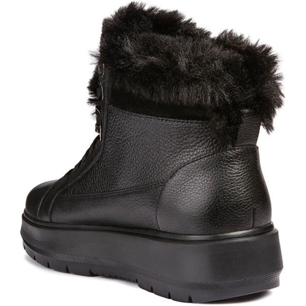 explique Formación martillo  Geox Fur D Kaula B Abx Women's Mid Boots In Black - Lyst