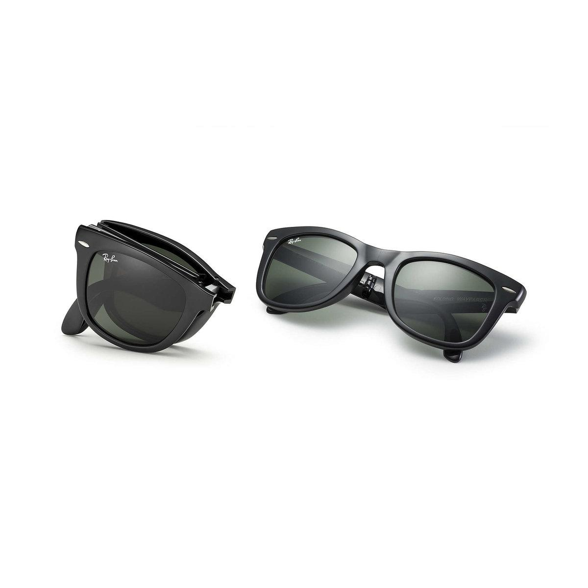 5ae313c2c6 Lyst - Ray-Ban Wayfarer Folding Classic Sunglasses – Green Classic G ...