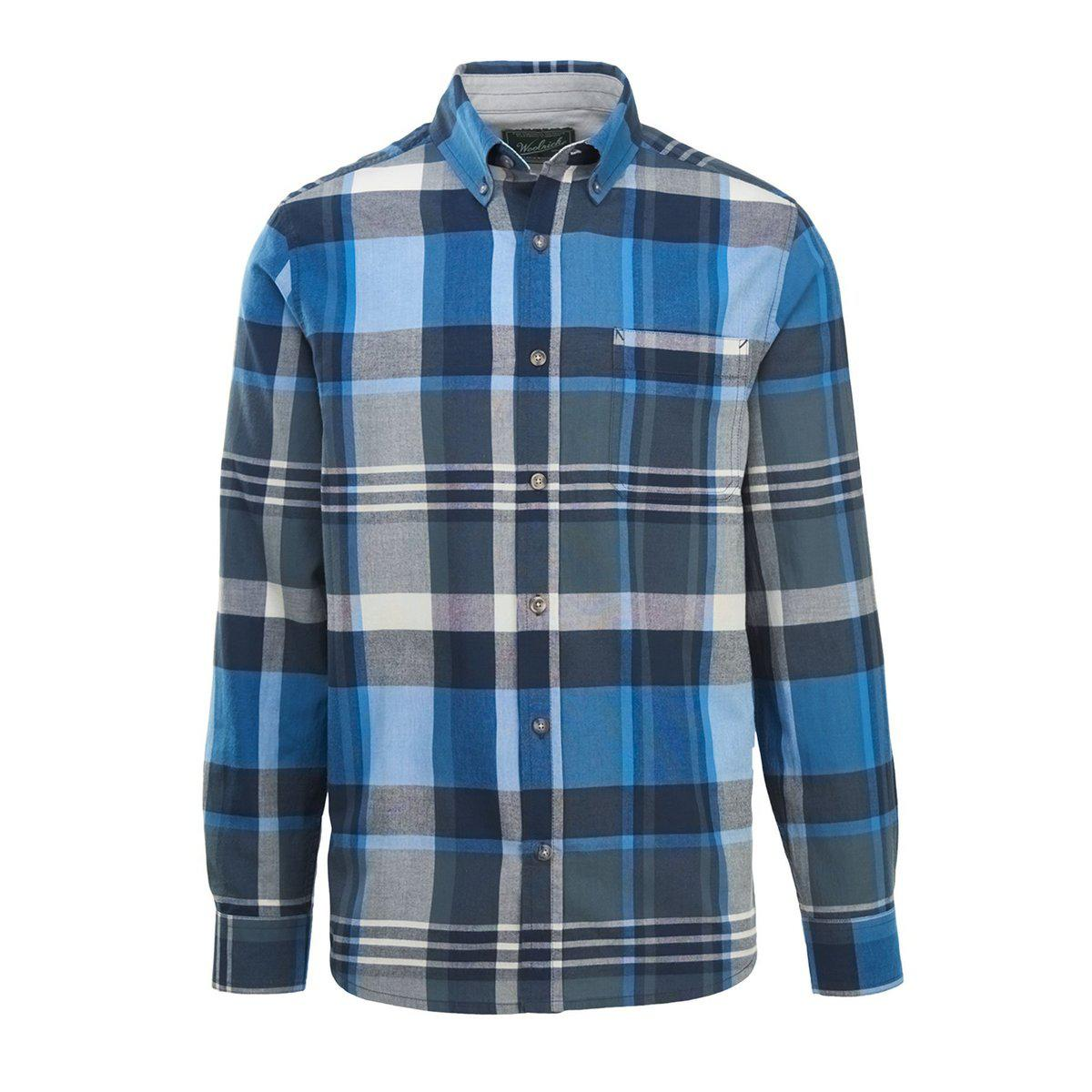 f074c816e4dc79 Lyst - Woolrich Timberline Long Sleeve Madras Plaid Shirt in Blue ...