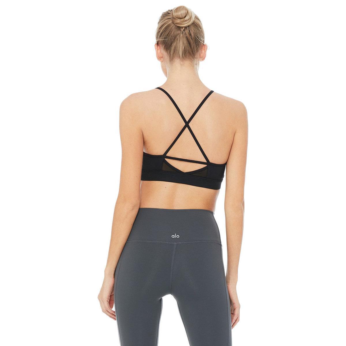 0a1c7e7216 Lyst - Alo Yoga Starlet Bra in Black