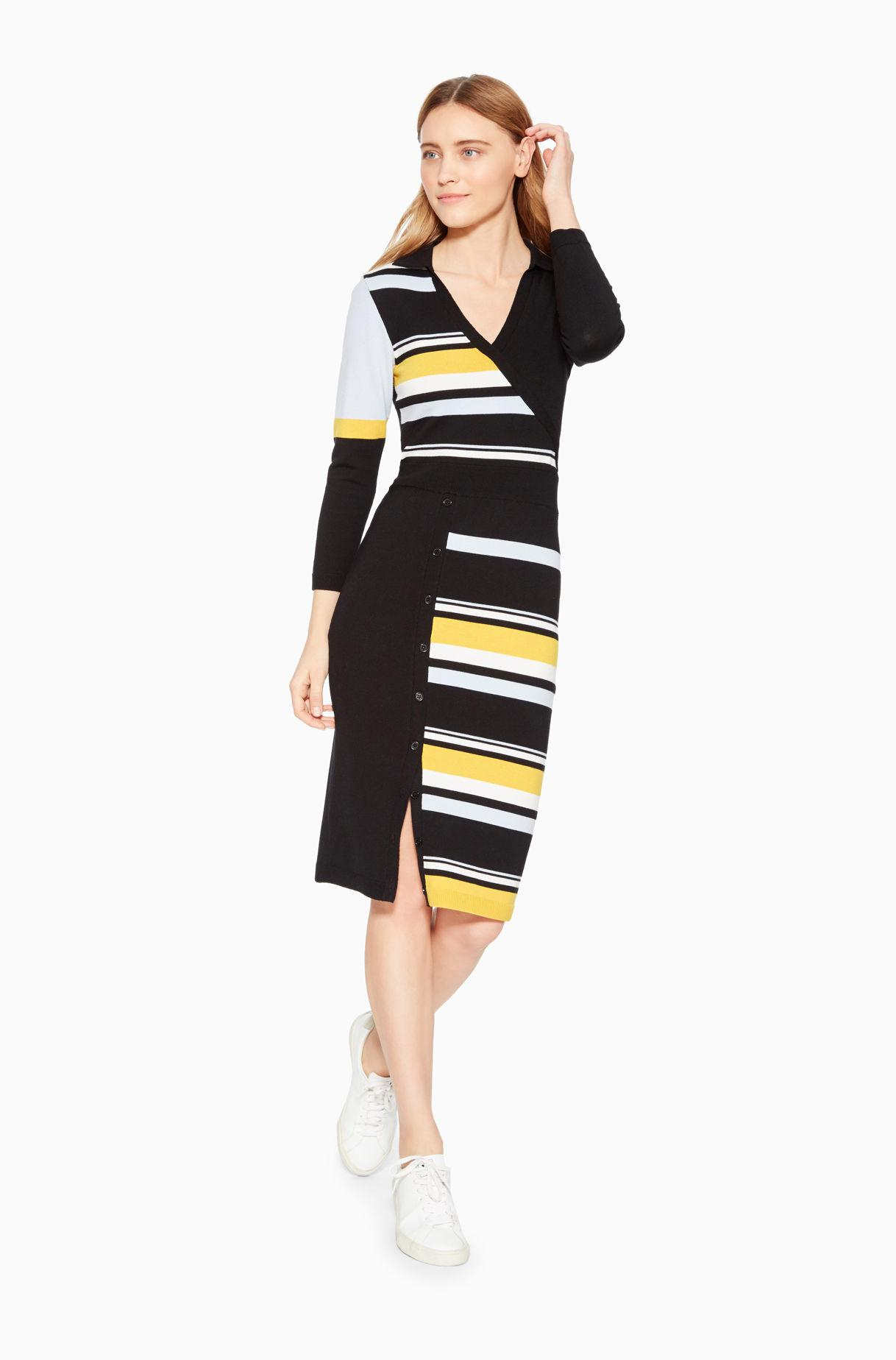388836f4bf3 Lyst - Parker Amity Polo Knit Dress in Black