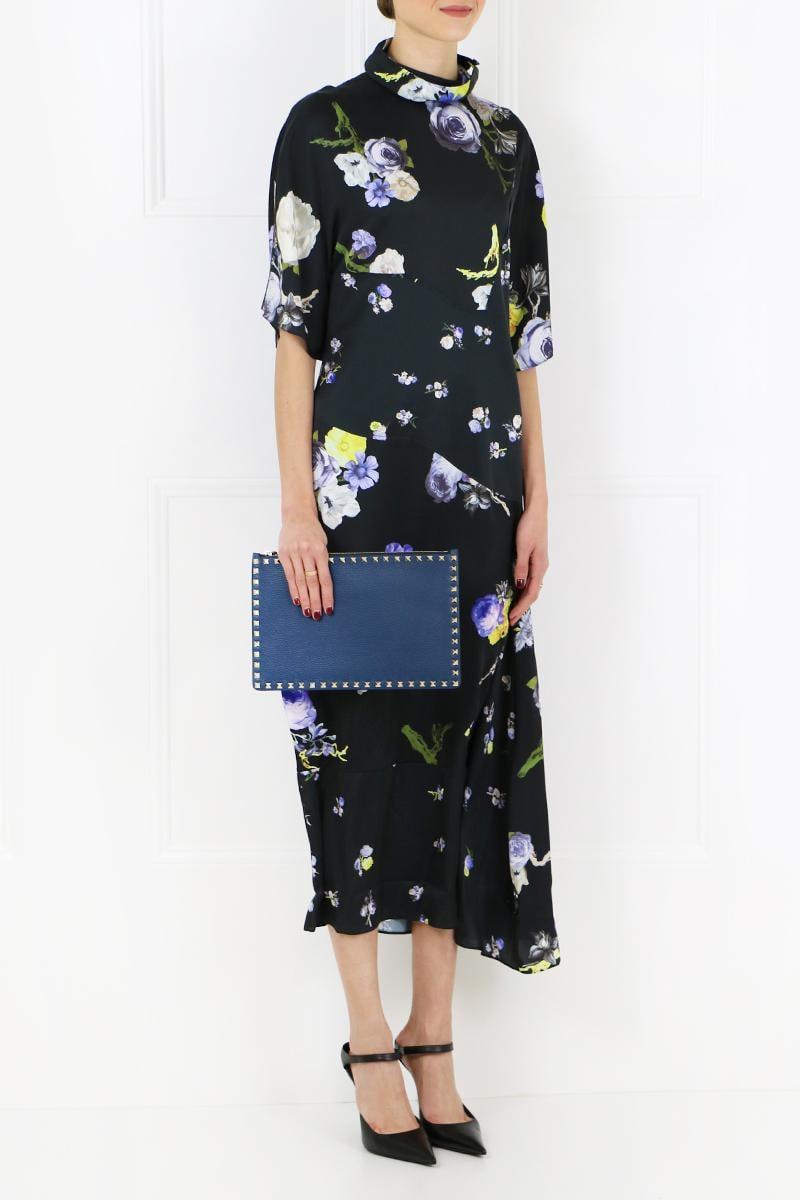 Dress Bordeaux Flower Big Acne Dilona Lyst Print Studios ZYqa8