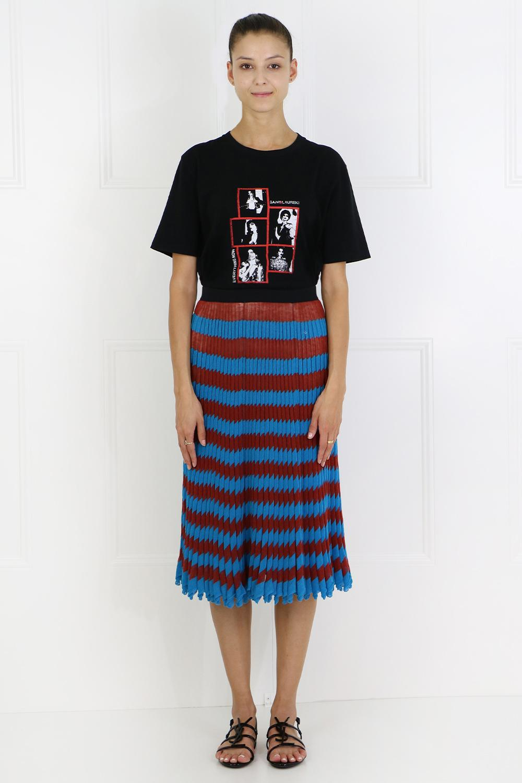 34ce916b71 CALVIN KLEIN 205W39NYC - Blue Pleated Stripe Knit Skirt Sienna/ocean -  Lyst. View fullscreen