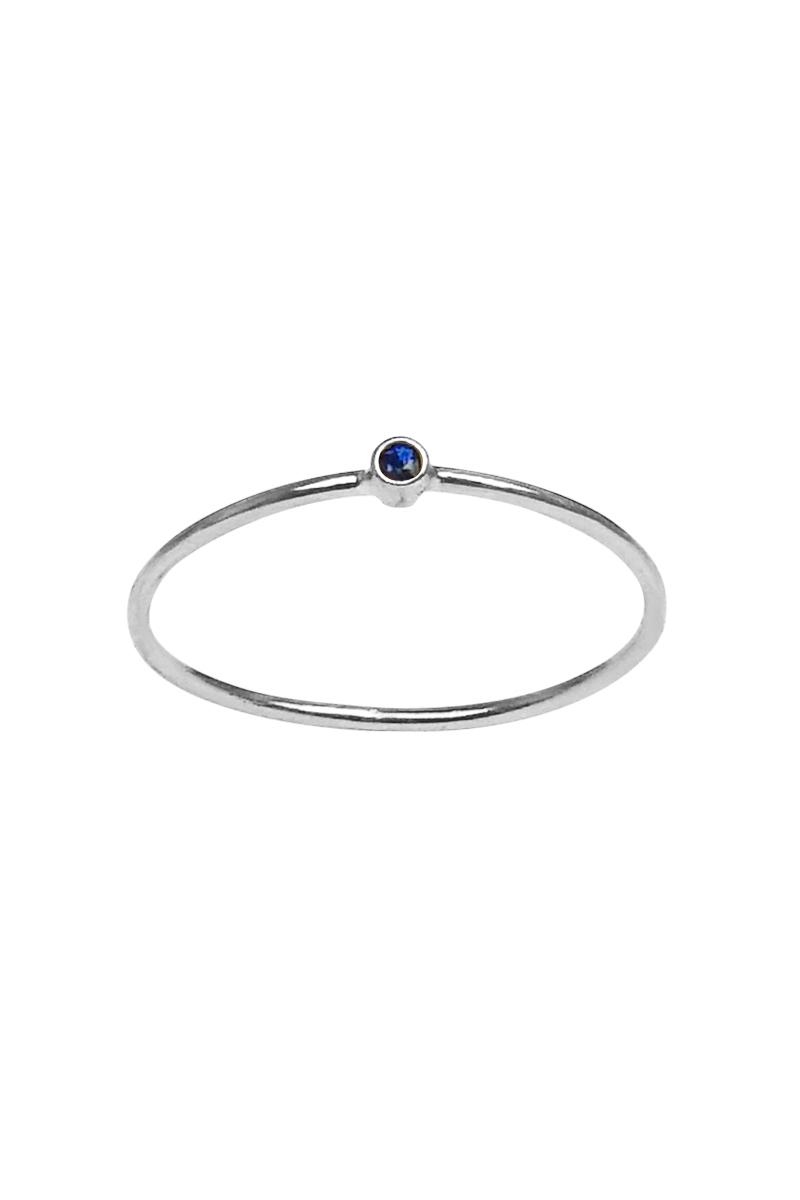 meyer thin sapphire ring 18k white gold lyst