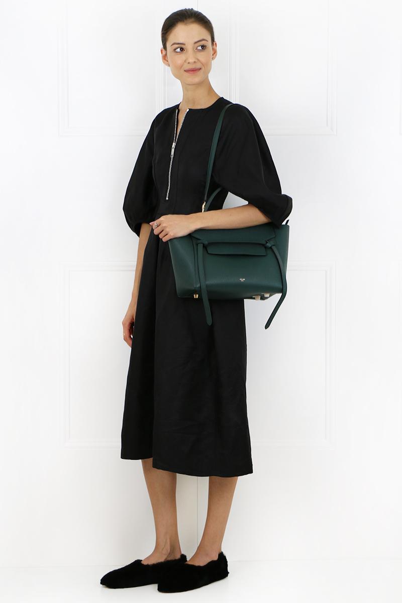 Celine Leather Mini Belt Bag Amazon In Black Lyst