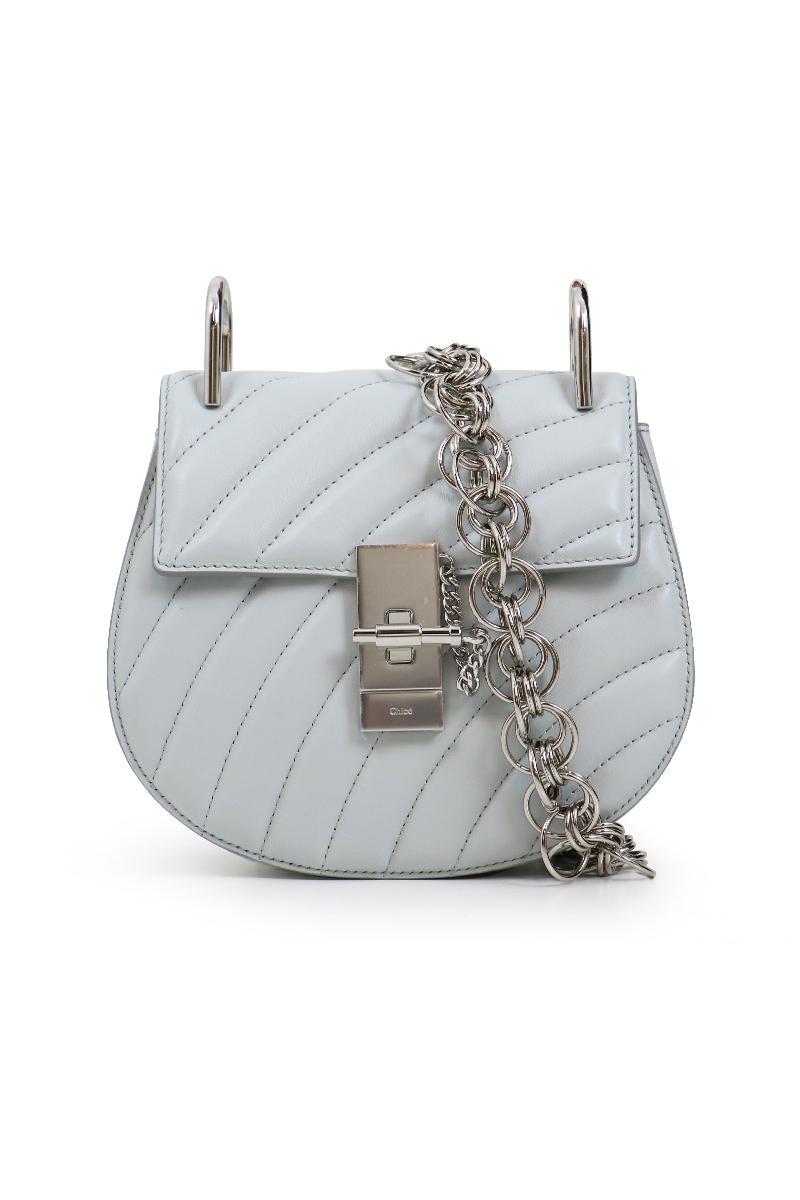 8fbec802a6 Chloé Drew Bijou Mini Bag Airy Grey/silver in Gray - Lyst