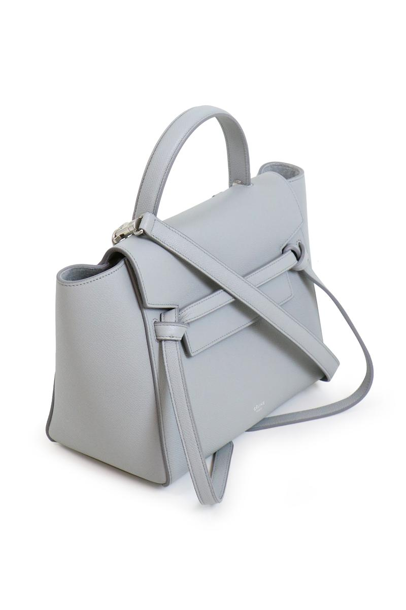 Celine Leather Micro Belt Bag Pearl Blue Lyst