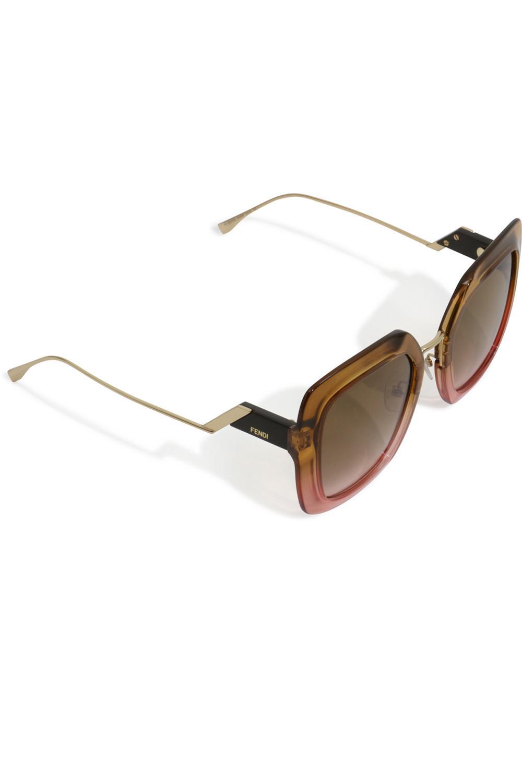 945f8f03df9ca Fendi Tropical Shine Square Sunglasses Brown pink in Brown - Lyst