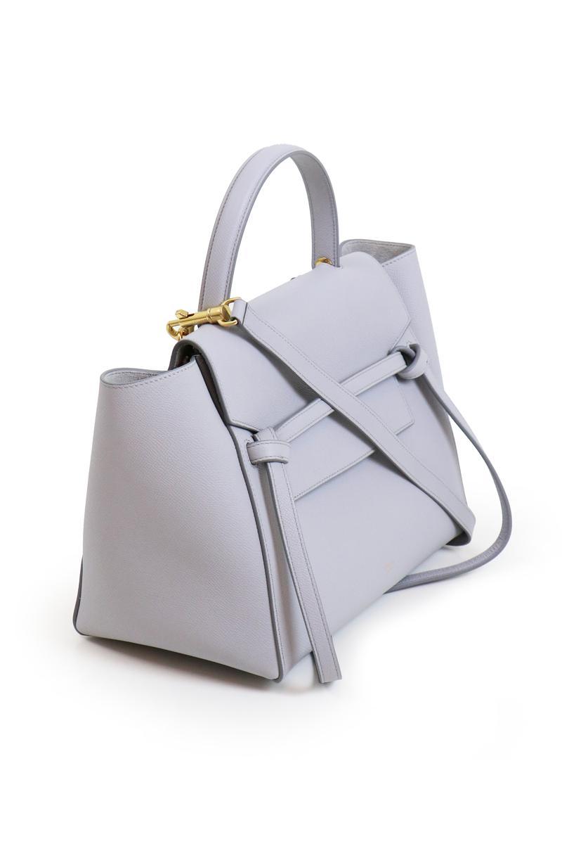 eac32f7f5d67 Céline Mini Belt Bag Light Grey in Gray - Lyst