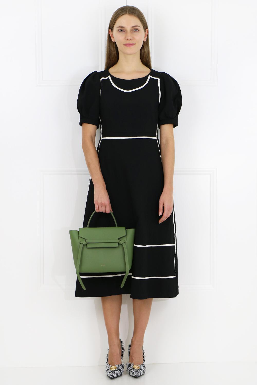 Celine Leather Micro Belt Bag Olive In Green Lyst