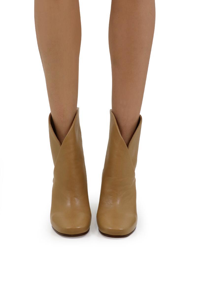 Celine Denim Heritage Boot Nappa Camel in Natural