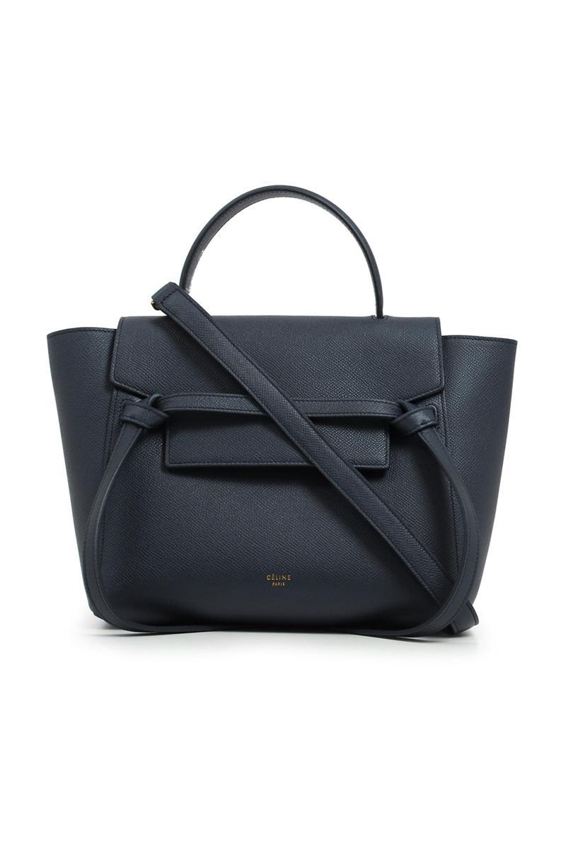179cd2c2e279 Lyst - Céline Micro Belt Bag Dark Navy in Blue
