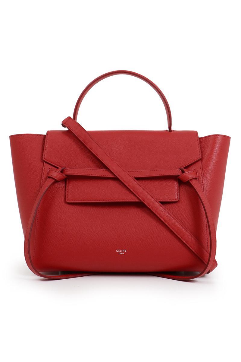 Lyst - Céline Mini Belt Bag Pop Red in Red f8d155bdfaf28