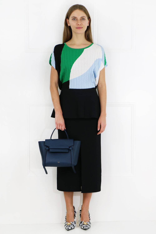 Celine Leather Micro Belt Bag Steel Blue Lyst