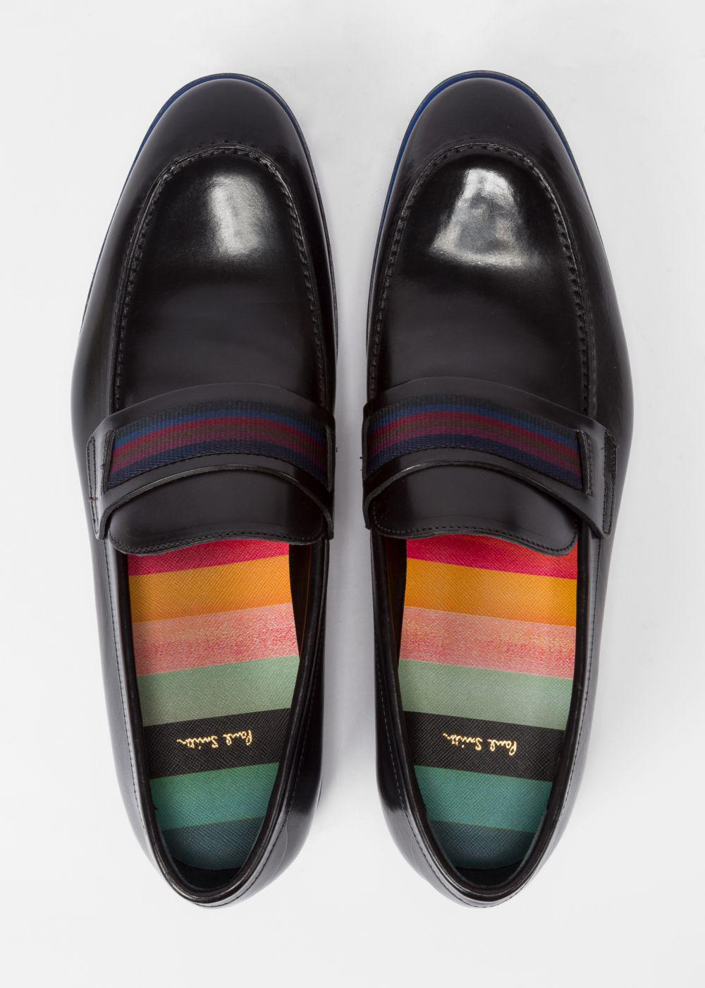 Paul Smith Men's Black Leather 'Bly' Loafers for Men