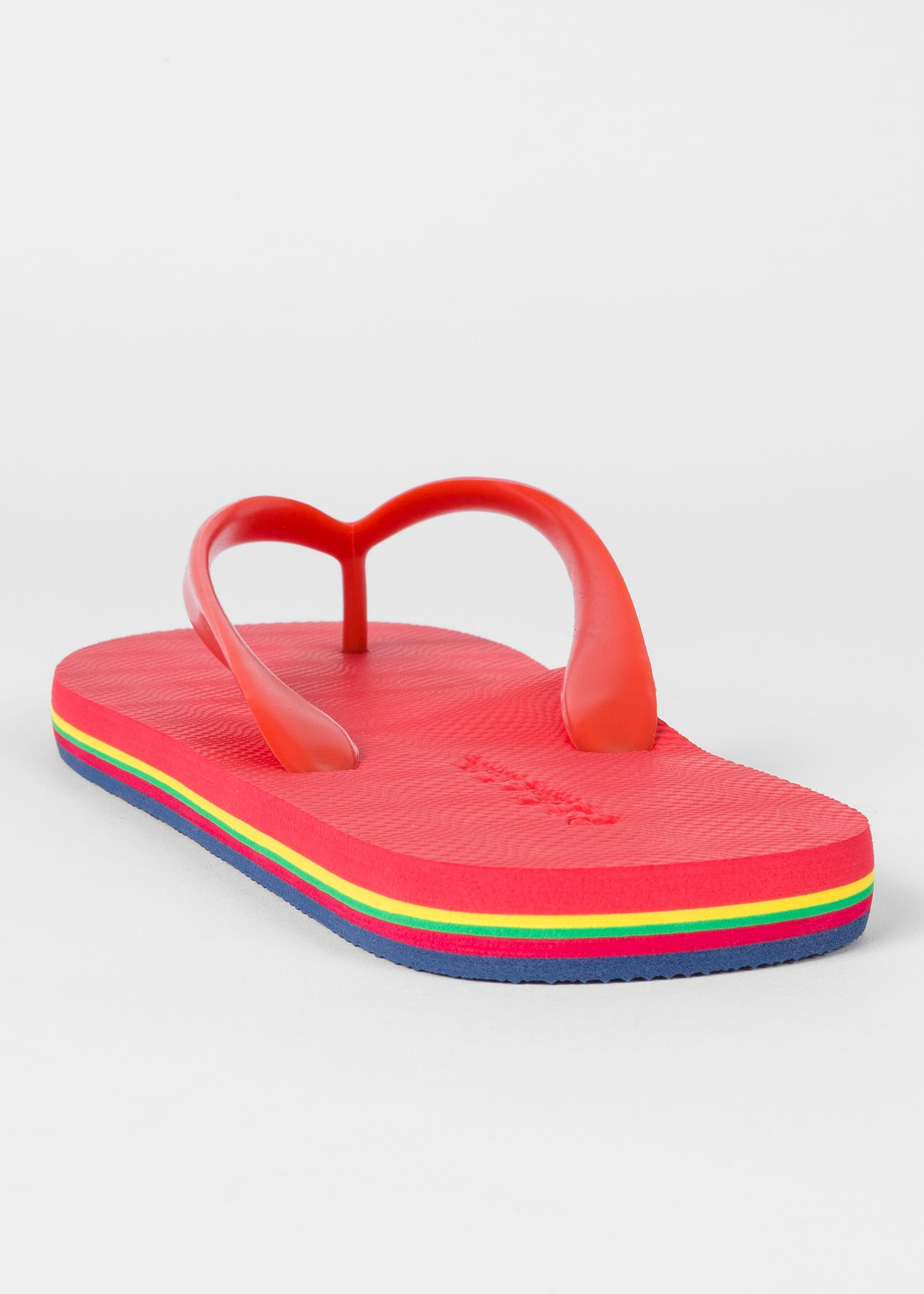 Paul Smith Rubber Red Dale Flip Flops With Multi -1533