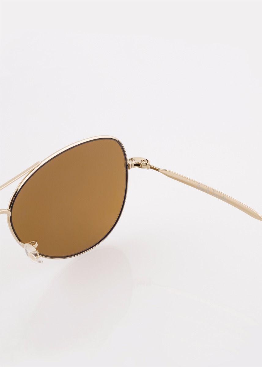 Paul Smith Gold Mirrored 'davison' Sunglasses in Metallic