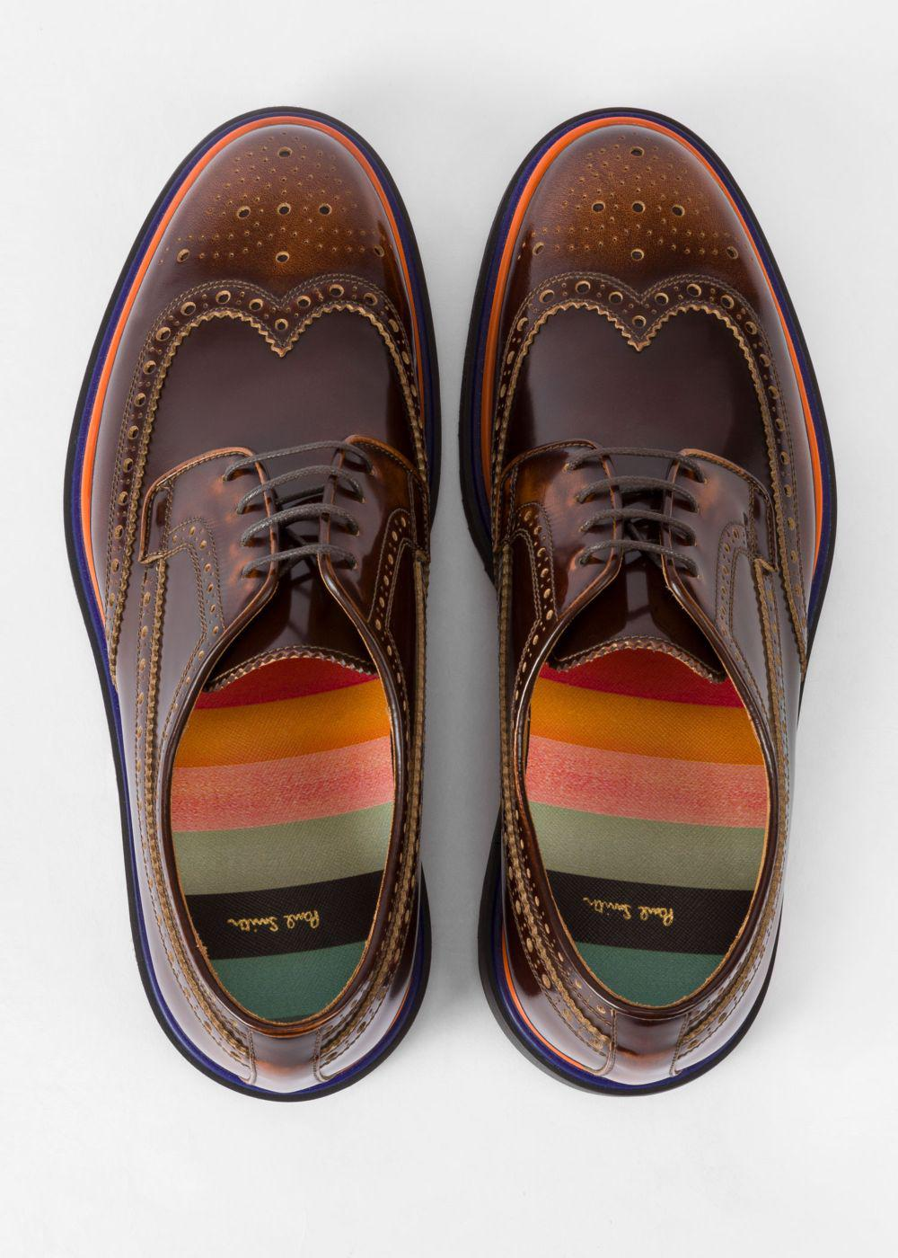 High-shine Leather 'crispen' Brogues