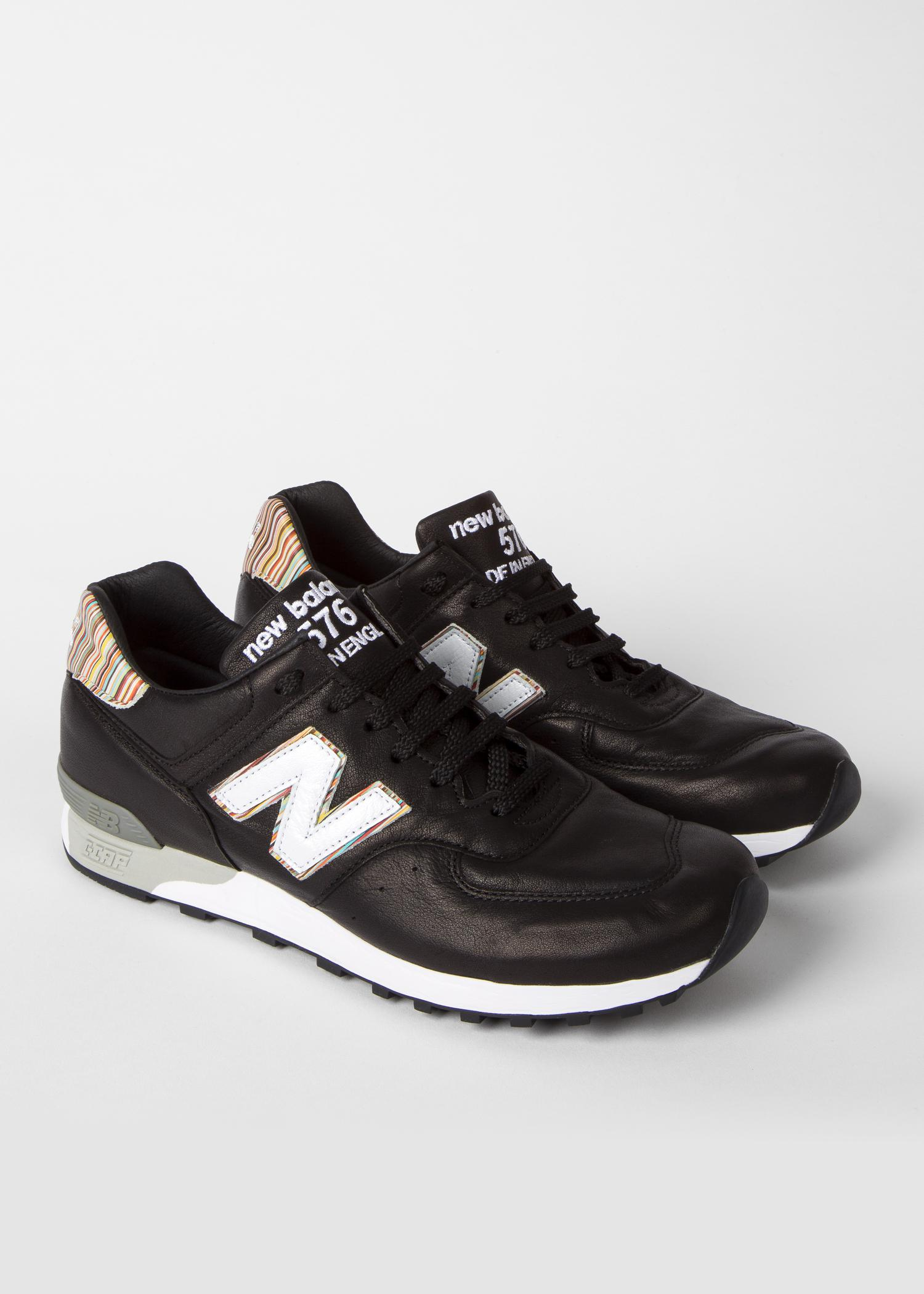 watch dee24 605a2 Paul Smith New Balance - Black Leather 576 Trainers for men