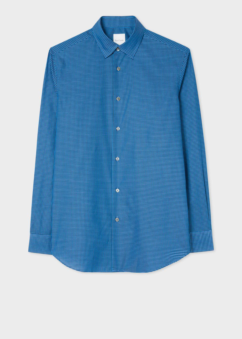 Lyst Paul Smith Men 39 S Tailored Fit Blue Gingham Check