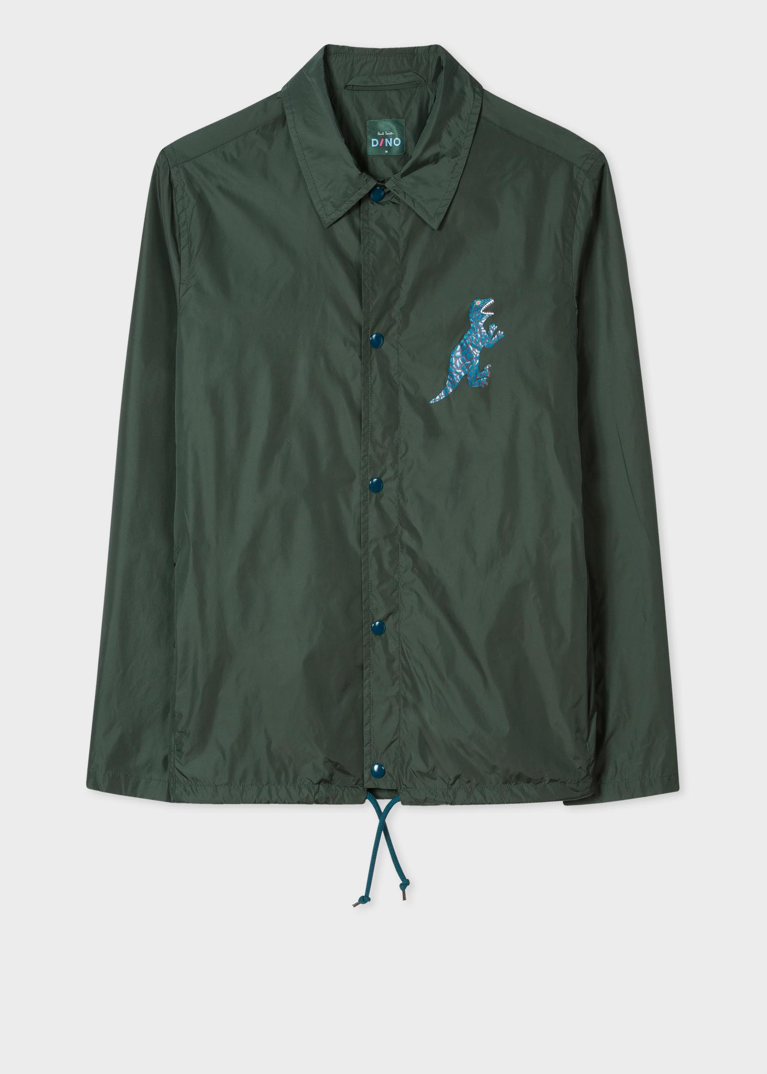 Paul Smith Synthetic Dark Green 'Dino' Print Coach Jacket for Men