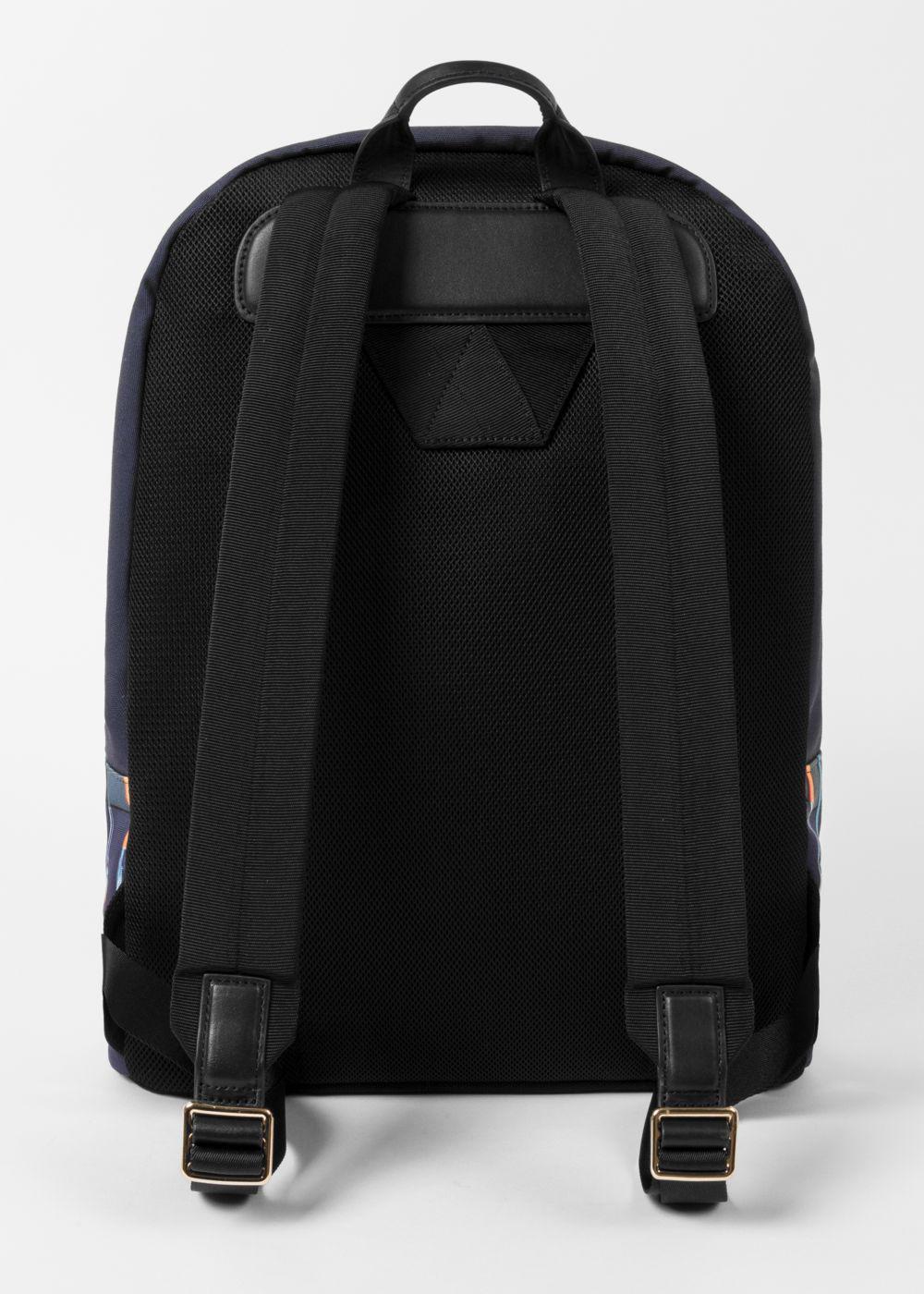 Paul Smith Men's Canvas 'Paint Brush' Print Backpack in Black for Men