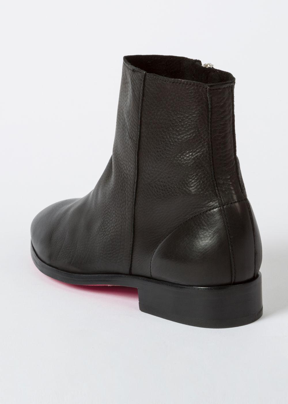Paul Smith Women's Black Leather 'brooklyn' Boots