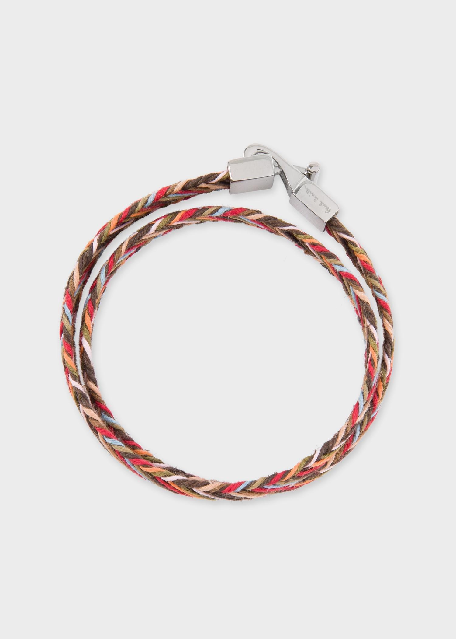640b9396abcbf Paul Smith Multicolor Multi-coloured Woven Wrap Bracelet for men