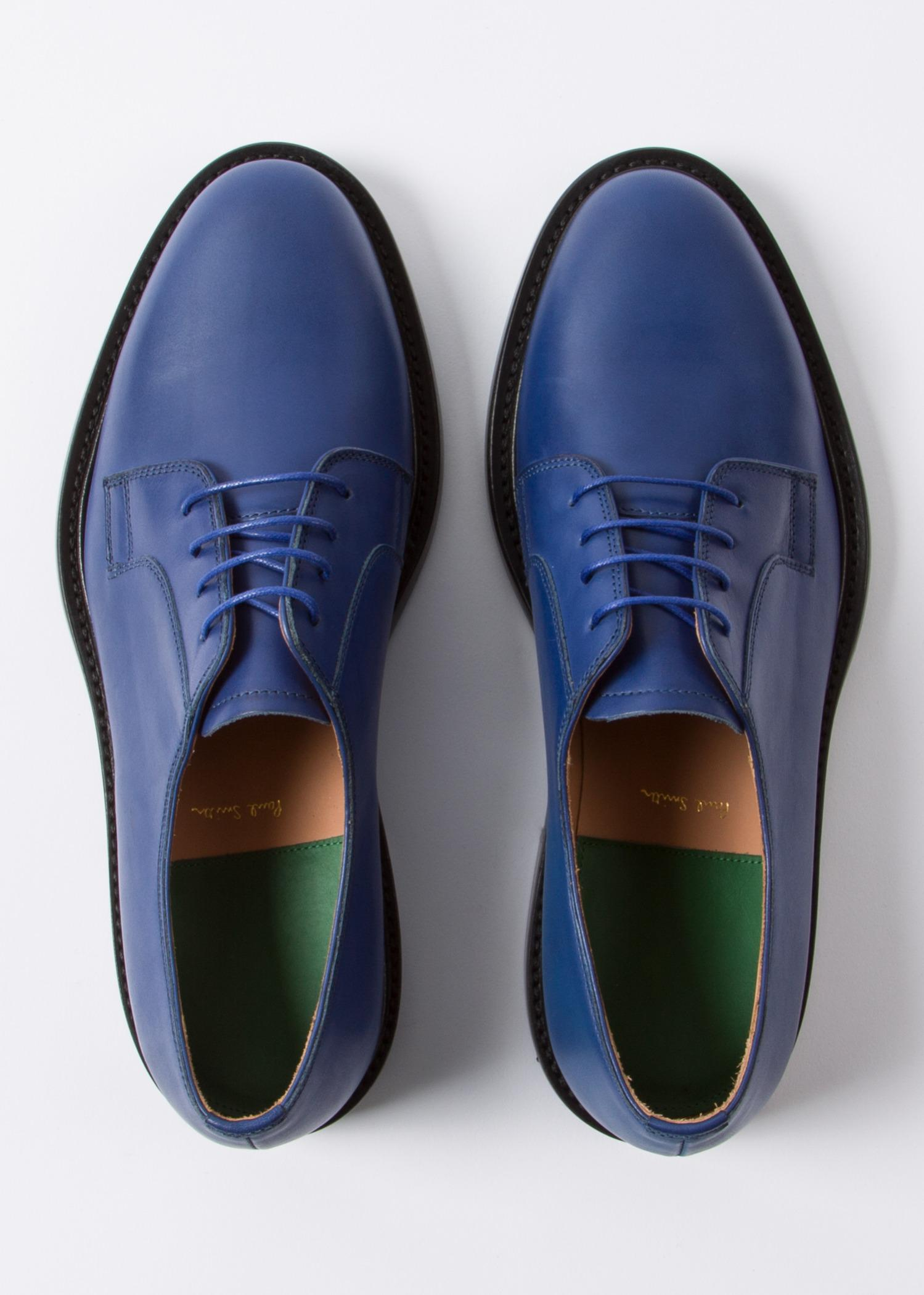 Paul Smith Blue Leather 'Boyd' Shoes for Men