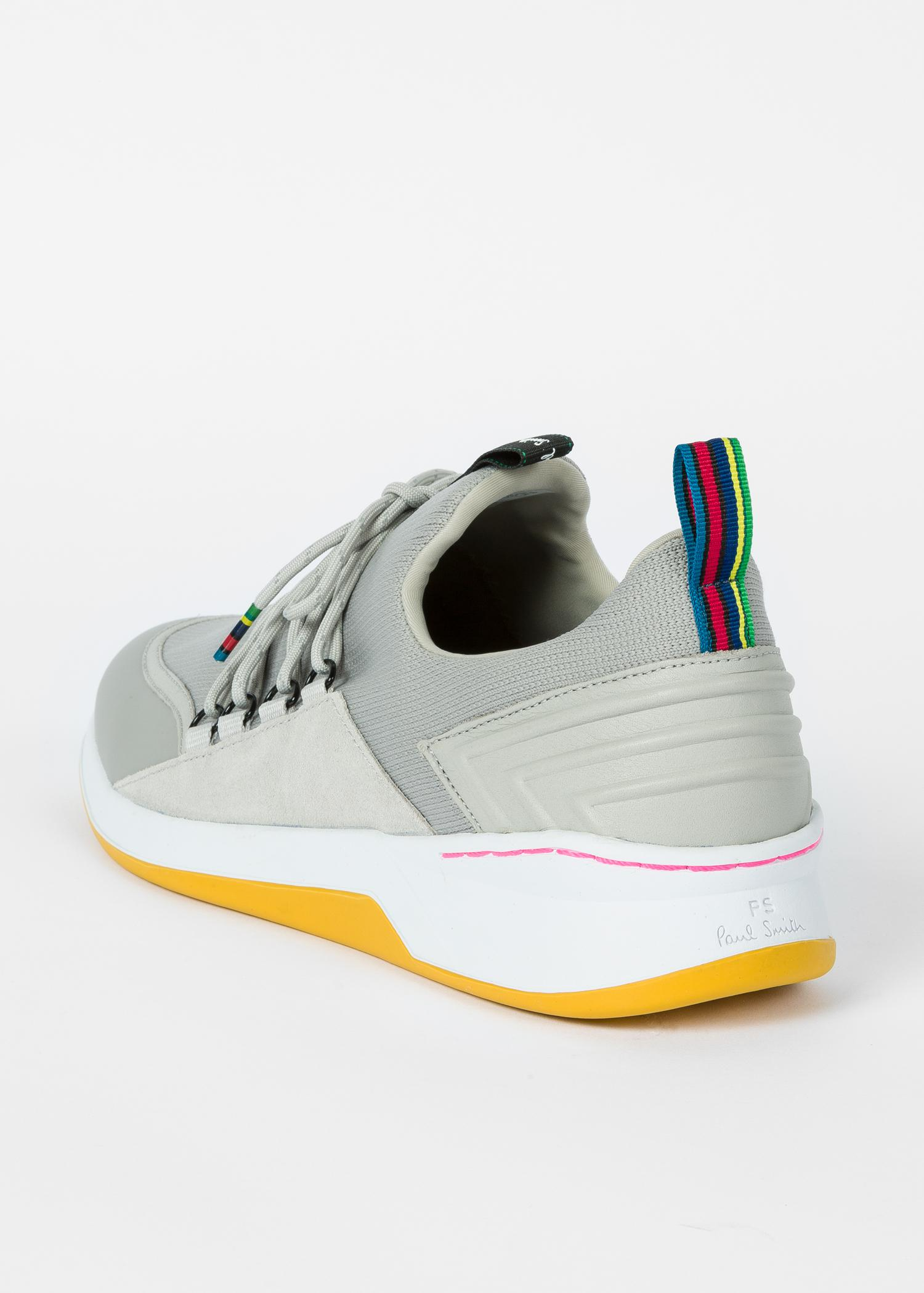 Paul Smith Synthetic Grey 'Jersey' Knitted Trainers in Grey for Men