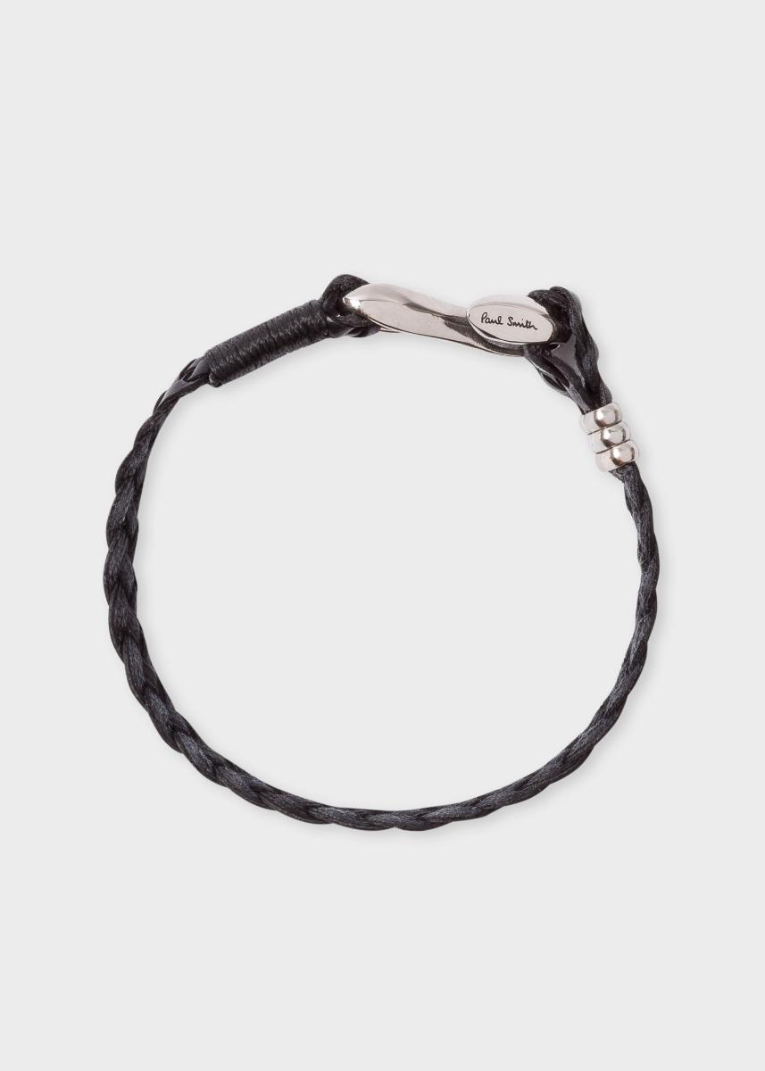 8d569483e6e2b Paul Smith Men's Black Five-strand Plaited Leather Bracelet for men
