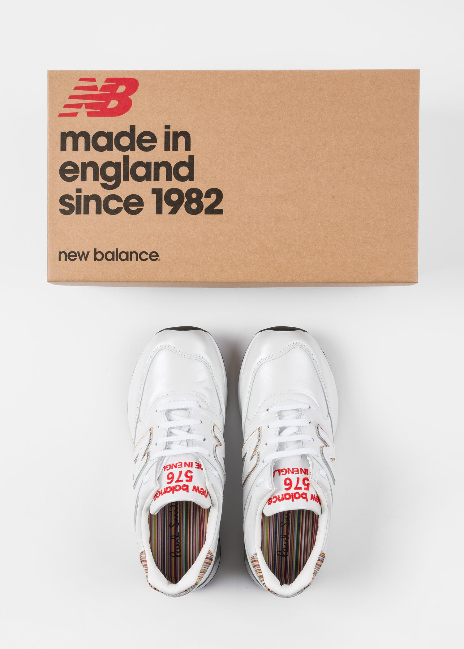 new arrival d4567 b05d7 Paul Smith New Balance - White Leather 576 Trainers