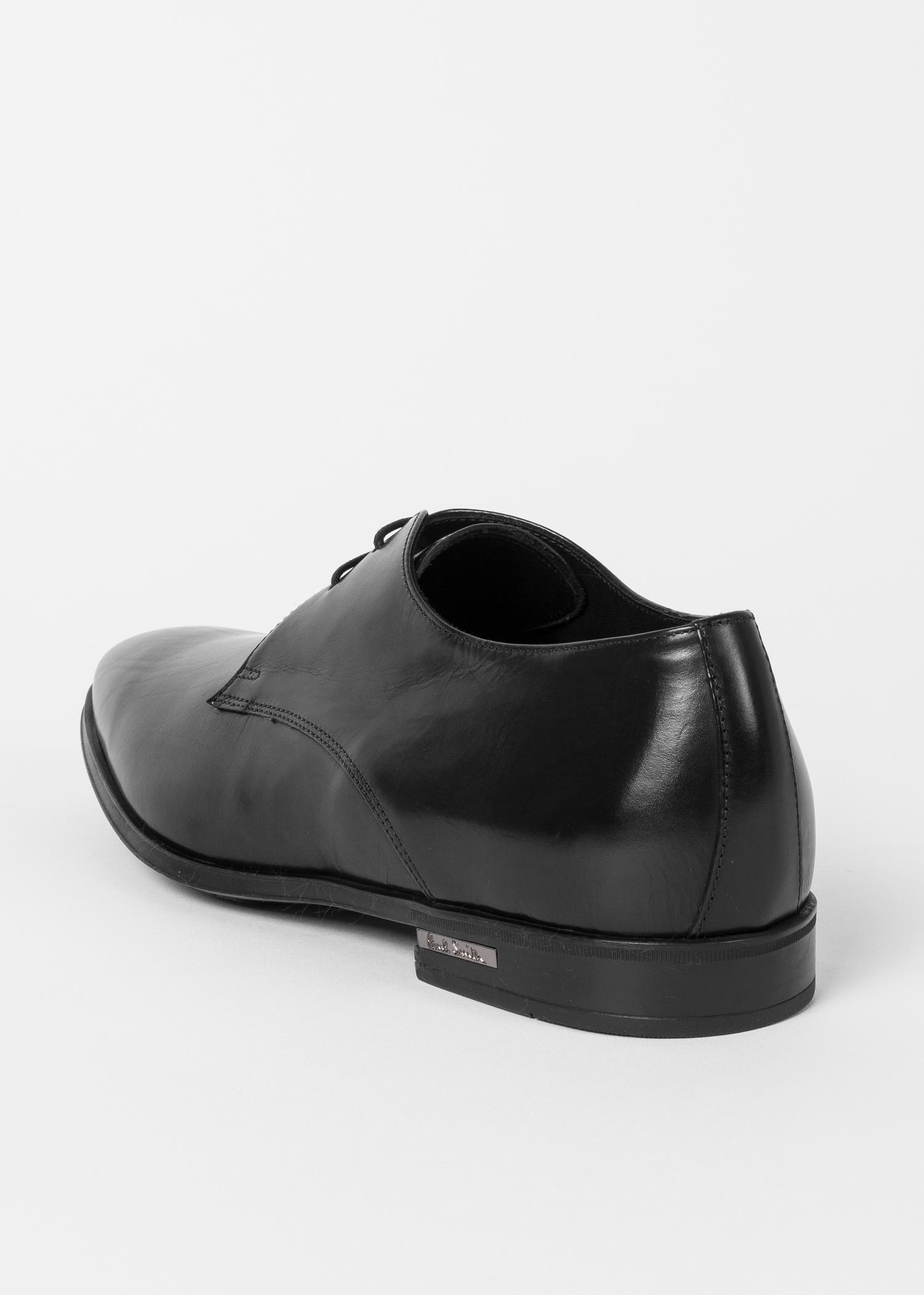 Paul Smith Black Leather 'Coney' Derby Shoes for Men