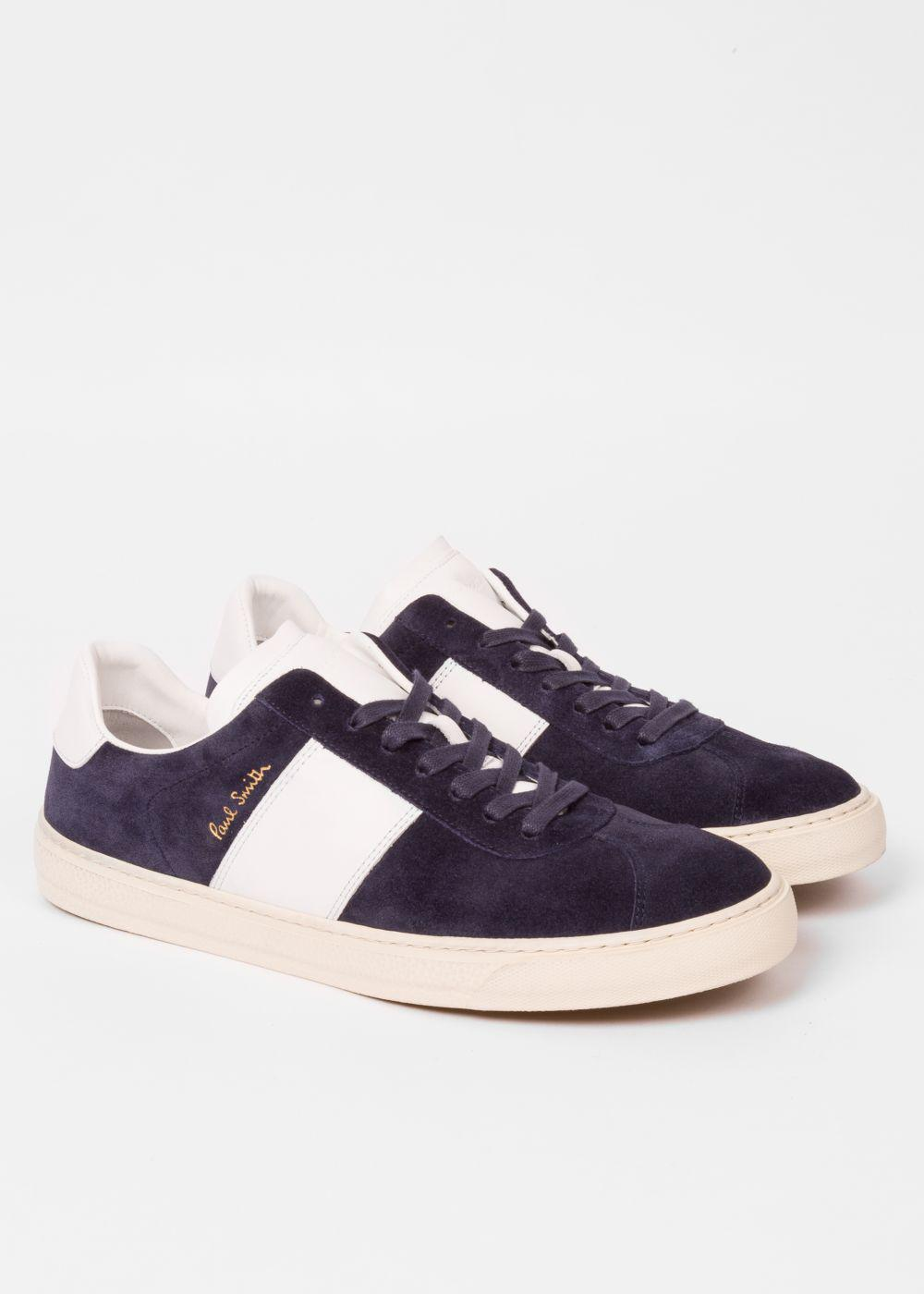 Paul Smith Men's Navy Suede 'levon' Trainers in Blue for Men