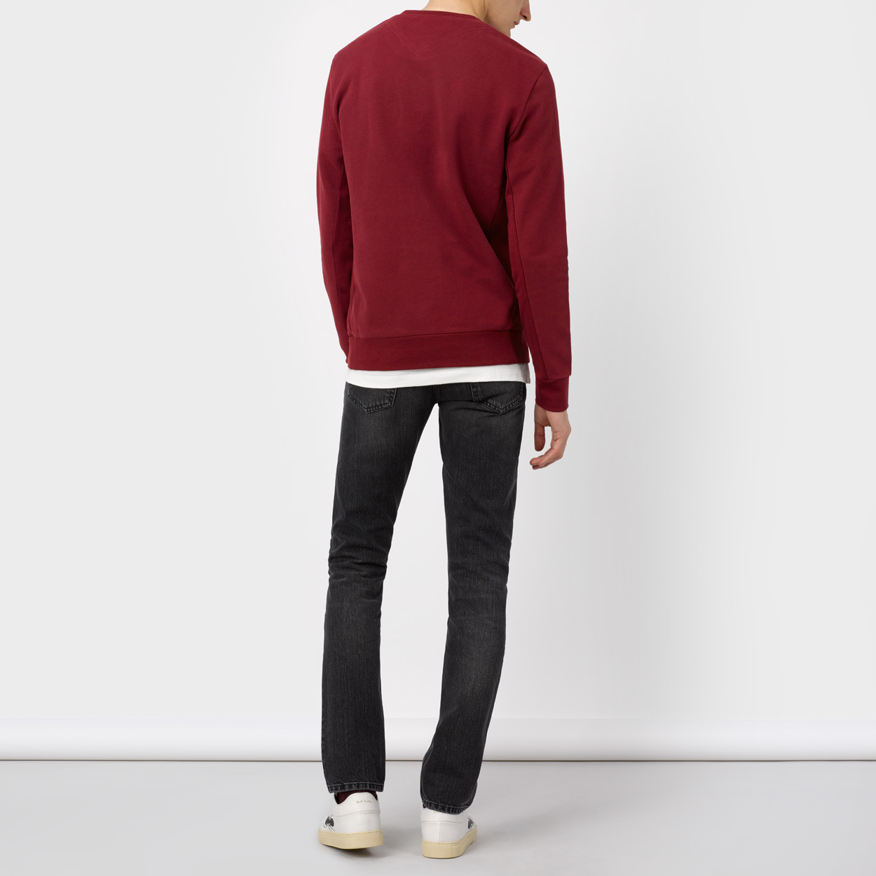 Lyst Paul Smith Men S Burgundy Flag Motif Sweatshirt In