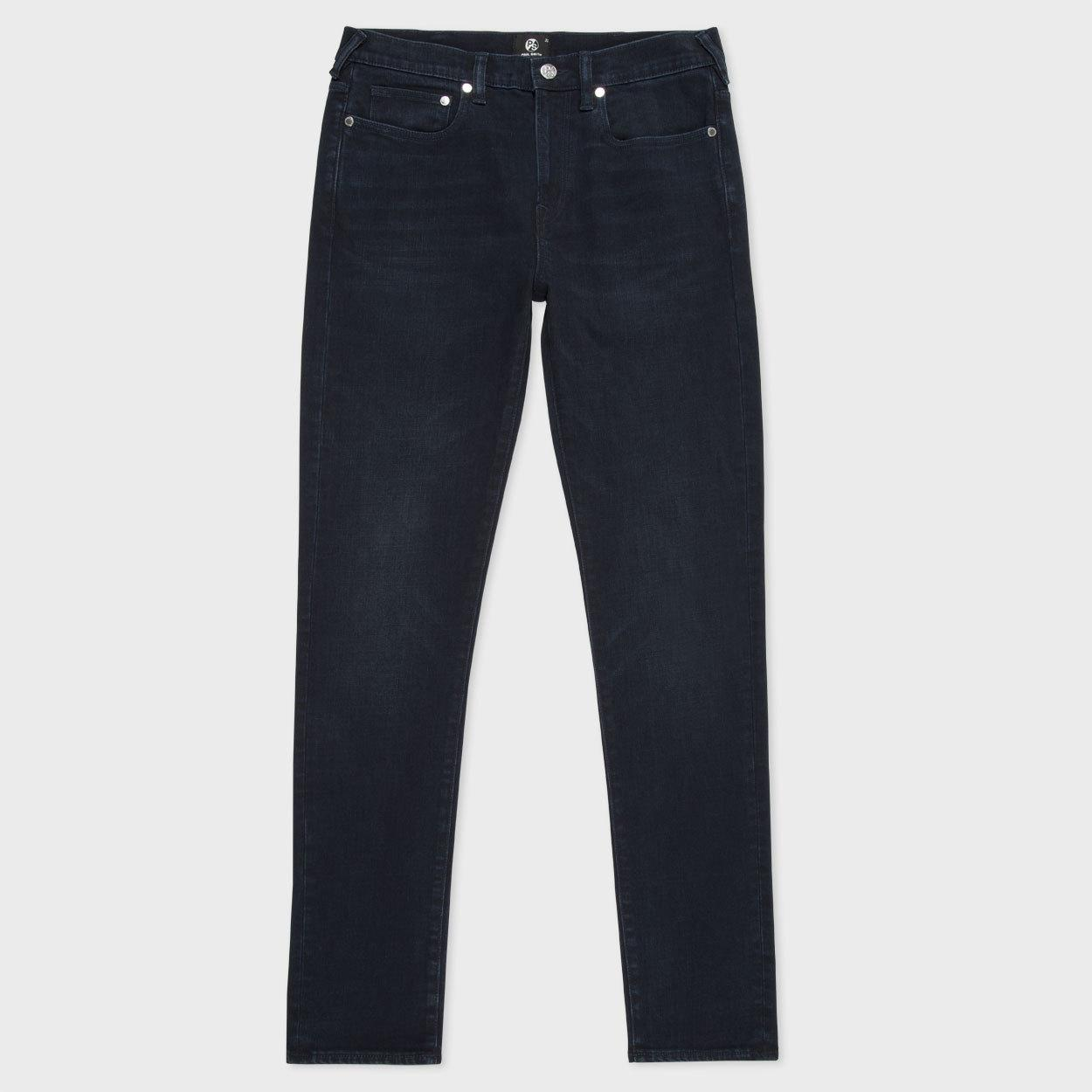 Paul Smith Men's Slim-fit Over-dyed Crosshatch Stretch-denim Jeans in Blue for Men