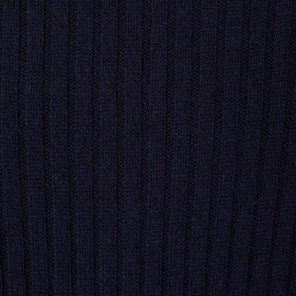 Paul Smith Men's Navy Shetland Wool-blend Sweater With Suede Shoulder Panels in Blue for Men